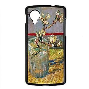 Vincent Van Gogh Design PC Black Case for Google Nexus 5 Plum Blossom