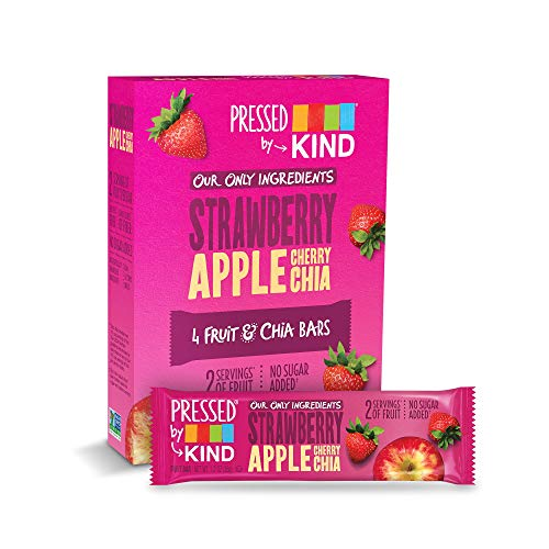 Pressed by KIND Fruit Bars, Strawberry Apple Chia, No Sugar Added, Gluten Free, 24 Count