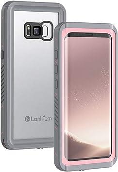 Lanhiem Funda Impermeable Samsung S8, Carcasa Sumergible Resistente Al Agua IP68 Certificado [Protección de 360 Grados], Carcasa para Samsung Galaxy S8 con Protector de Pantalla Incorporado, Rosa: Amazon.es: Electrónica