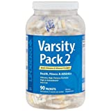 Lindberg Varsity Pack 2, 90 Multi-Vitamin and Mineral Packets with Antioxidants, Carotenoids, and more