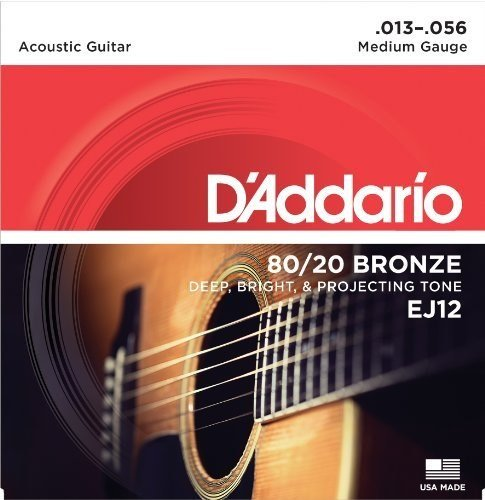 3-Pack D'Addario EJ12 Medium 80/20 Bronze Acoustic Guitar St