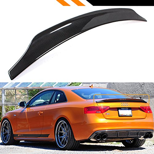 Cuztom Tuning Fits for 2009-2016 Audi S5 RS5 CAT Style Carbon Fiber Highkick Trunk Lid Spoiler Wing