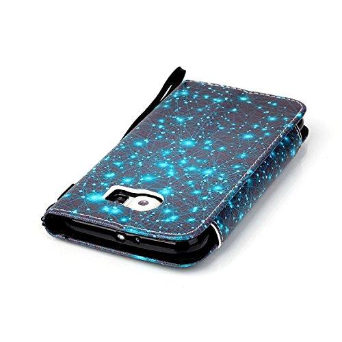 Caja del Teléfono para Samsung Galaxy S6 Funda Libro Suave PU Leather Cuero Wallet Flexible Carcasa - Sunroyal® Flip Tirón Case Cover,Cierre Magnético,Función de Soporte,Billetera con Tapa para Tarjet A-09