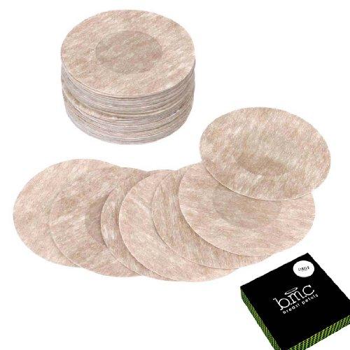 (BMC 40 Pair Womens Circle Shaped Adhesive No Show Disposable Nipple Cover Breast Petal Pasties)