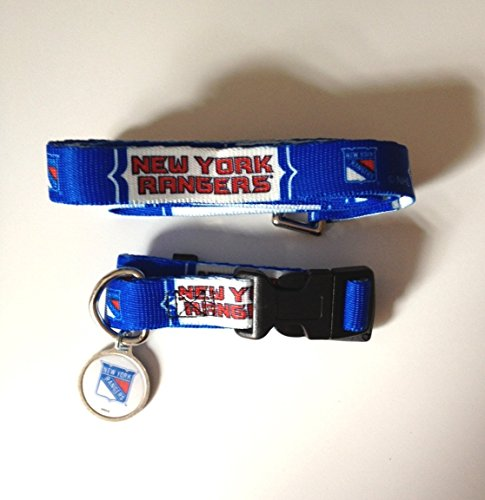 New York Rangers Pet Accessories Set - Small (6' Leash, Collar, and ID - Hunter Rangers York New Fan