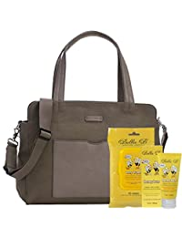 Bundle -3 Items:Storksak Juliette Diaper Bag - Moss & Bella B Honey Bum 2 oz & Bella B Babywipes 50 count