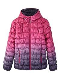 Krumba Girl's Zip Off Gradient Water Resistant Puffer Jacket