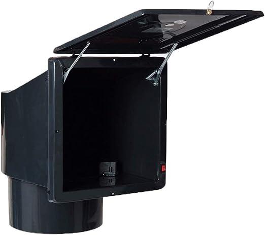 ZJING - Ventilador Extractor de Humo de Cocina con Potente, Ventilador de Sonido, Campana de Ventana de 10 Pulgadas: Amazon.es: Hogar