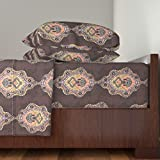 Roostery African 3pc Sheet Set Victorian Africa by Lucybaribeau Twin Sheet Set made with