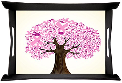 cancer ribbon tree Flexi PU Foldable Design Serving Tray (Flexi Ribbon)