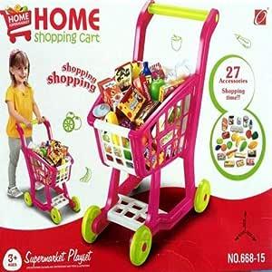 Home Supermarket Shopping Cart Play set