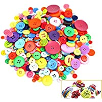 700 PCS Assorted Mixed Color Resin Buttons 2 and 4 Holes...