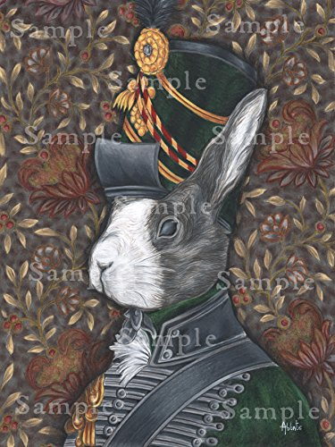 - Wellington's Rabbit Army - Fantasy Art Print