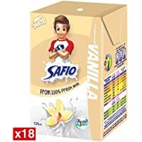 Safio UHT Vanilla Flavoured Milk, 18 x 125 ml