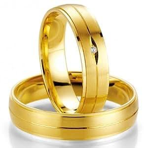 Alianzas de póster con anillos Breuning 48/07017 585 oro