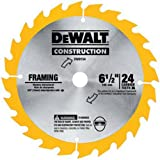DEWALT DW9154 6-1/2-Inch 24 Tooth ATB Framing Saw Blade with 5/8-Inch Arbor