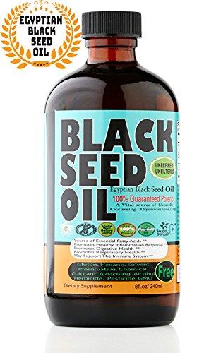 Premium Black Seed Oil Cold Pressed Egyptian Black Seed Oil -- 8 oz by Sweet Sunnah by Sweet Sunnah