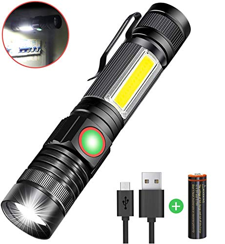 Karrong Strong Magnetic Led Torch USB Rechargeable Super Bright Flashlight 4 Modes...