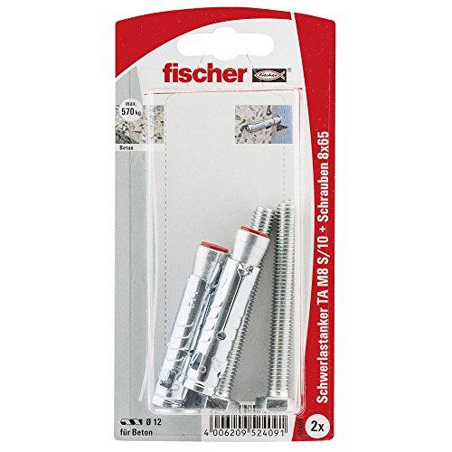 Fischer 52409 TA M8 S/10 K Mirror Fixing - Multi-Colour (2-Piece) by Fischer
