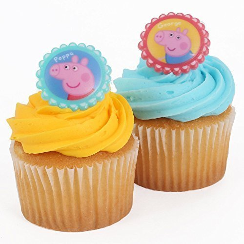Peppa Pig Cupcake Rings - Pack of 12 -