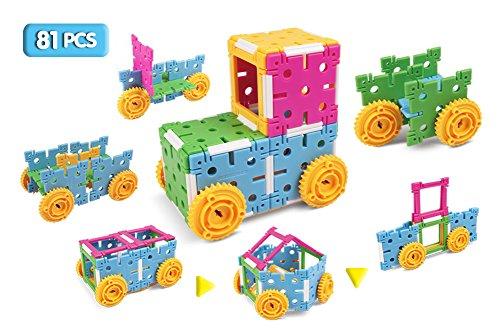 klikko Kids STEM Toys - Preschool Basic Gears Building Set f