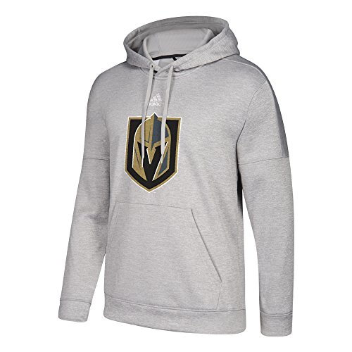 fan products of adidas NHL Las Vegas Golden Knights Adult Unisex Primary Logo Stand Out Fleece Hood, 4X-Large, Medium Grey Heather