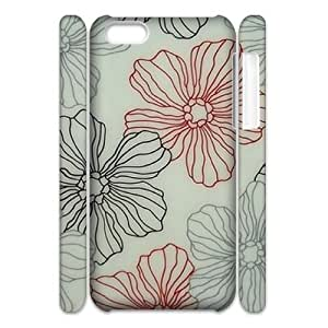 linJUN FENGPink Floral DIY 3D Cover Case for iphone 5/5s,personalized phone case ygtg571682