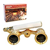 HQRP 3 x 25 Opera Glasses Binocular w/Built-in Extendable Handle/White-Pearl with Gold Trim with Crystal Clear Optics (CCO) Review