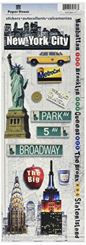 Paper House Productions STCX-0034E Travel Cardstock Stickers, New York City (6-Pack) (Scrapbooking New York)