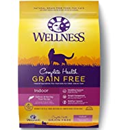 Wellness Complete Health Natural Grain Free Dry Cat Food, Indoor Health Salmon & Herring Meal Recipe, 11.5-Pound Bag