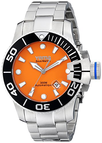 Yema Men's YMHF0304 Sous Marine Analog Display Japanese Automatic Silver Watch