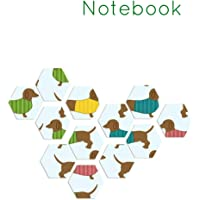 Notebook: Dachshund Sausage Dog Homework Book Notepad Notebook Composition and Journal Gratitude Diary Gift