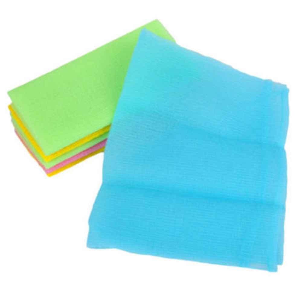 LUFA Hot Esfoliante Bagno Doccia Corpo Pulizia Scrubbing Asciugamano Asciugamano in Panno Morbido (colore casuale)