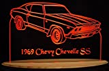 1969 Chevelle SS Acrylic Lighted Edge Lit 11-13'' LED Sign / Light Up Plaque 69 VVD1 Made in USA