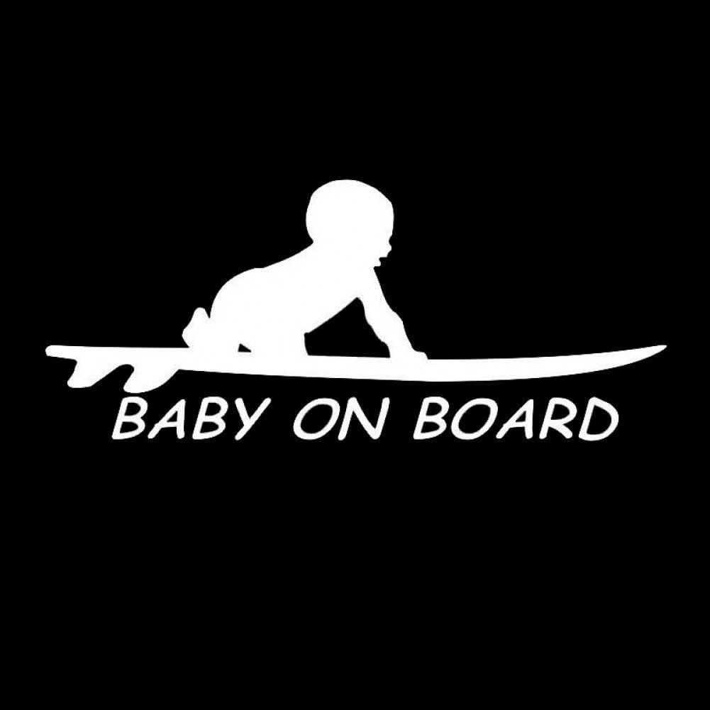 6,4 cm Baby An Bord Surfen Surfen Surfbrett Auto LKW Fenster Lustige Aufkleber Aufkleber DYTE Auto Aufkleber 15,3
