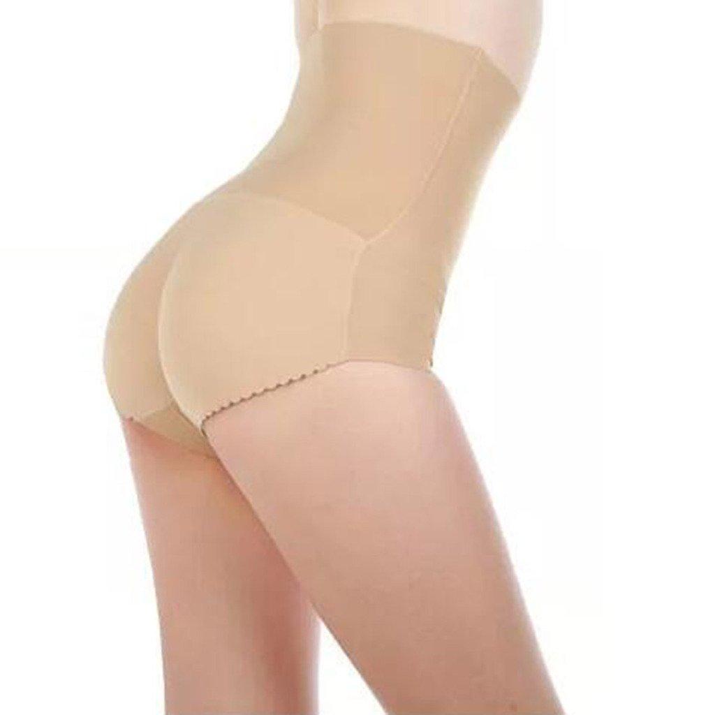 DODOING Damen Hohe Taille Damen Padded H/öschen Seamless Pushup Unterw/äsche Briefs//Unterhose Slip Push up Effekt