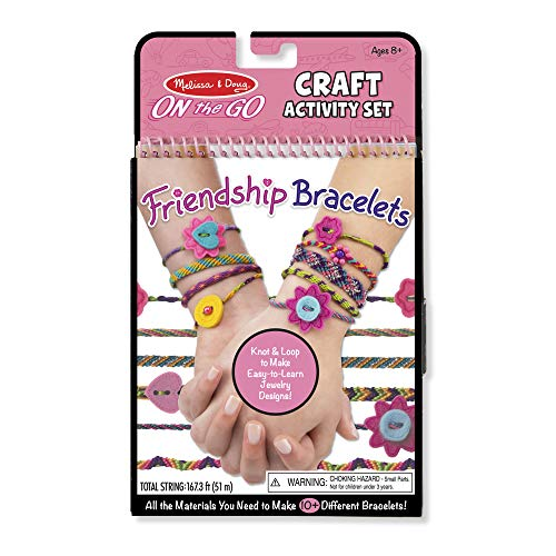 Melissa amp Doug On the Go Friendship Bracelet Craft Set Makes 10 Bracelets