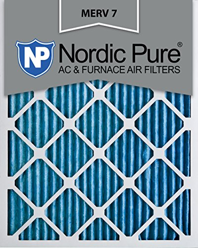 Nordic Pure 16x25x1M7-2 MERV 7 AC Furnace Filter 16x25x1 Pleated Merv 7 AC Furnace Filters Qty 2
