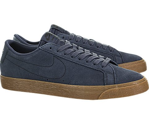 Nike Men's Sb Zoom Blazer Low Thunder Blue/Ankle-High Suede Skateboarding Shoe - 10M by Nike (Image #1)