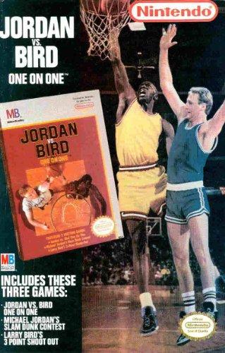 Michael Jordan Vs Larry Bird: One on One: Slam Dunk Contest Video Game: Great 2989 Original Photo Print Ad NICE SHORTS!