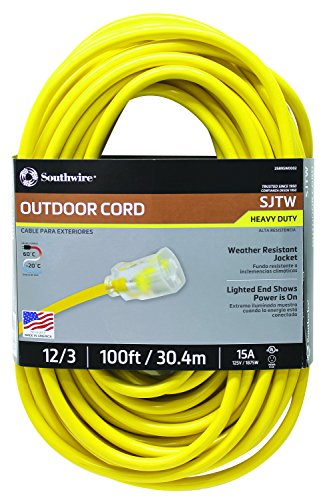 Southwire 02589sw Outdoor Extension Cord 12 3 American