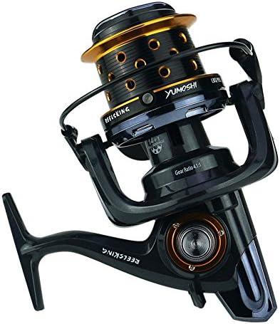 スピニングリール Baitrunnerリール14 + 1ベアリングスピニング釣りリール付きダブルドラッグブレーキシステム左右交換可能ハンドル用塩水淡水釣り ファミリーフィッシング (サイズ : 9000)