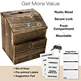 Rustic Suggestion Box with Lock: Wooden Ballot