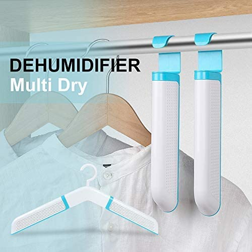 ELEPHAS Wardrobe Hanging Dehumidifier Desiccants Suitable for Kitchen Cupboard Bathroom Wardrobe Closet, Anti mold Moisture and Long Life Reuse