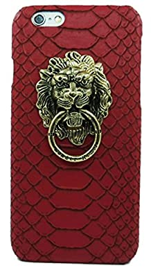 """Fashion Case"" Ultra Slim Snake Texture Hard Shell Case with Lion's Head Ring Holder for iPhone 6 Plus (5.5 Inch Screen)"