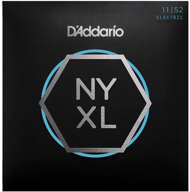 Cuerdas para Guitarra Eléctrica D'Addario NYXL1152 Nickel Wound, Superiores Medium/Inferiores Heavy, 11-52