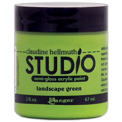 Ranger 2-Ounce Claudine Hellmuth Studio Semi Gloss Acrylic Paint, Landscape Green ()