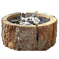 Einweggrill klein braun One-Way Camping Picknick ✔ rund ✔ tragbar ✔ Grillen mit Holzkohle