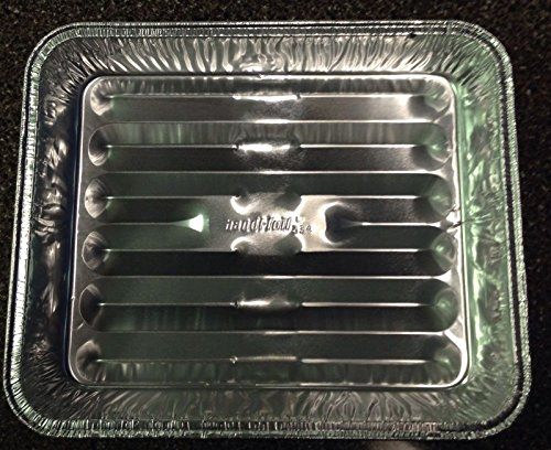 Handi-Foil 8'' x 7'' x1.3'' Small Mini Toaster Oven Broiler Baking Pan Hfa Ref# 334 (pack of 25) by Handi-Foil (Image #1)