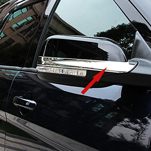 Fit for Ford Explorer 2015 2016 2017 2018 Chrome Rear View Mirror Side Molding Cover Trims ()